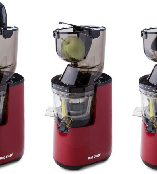 Extracteur de jus BioChef Atlas Whole Slow Juicer PRO - rouge