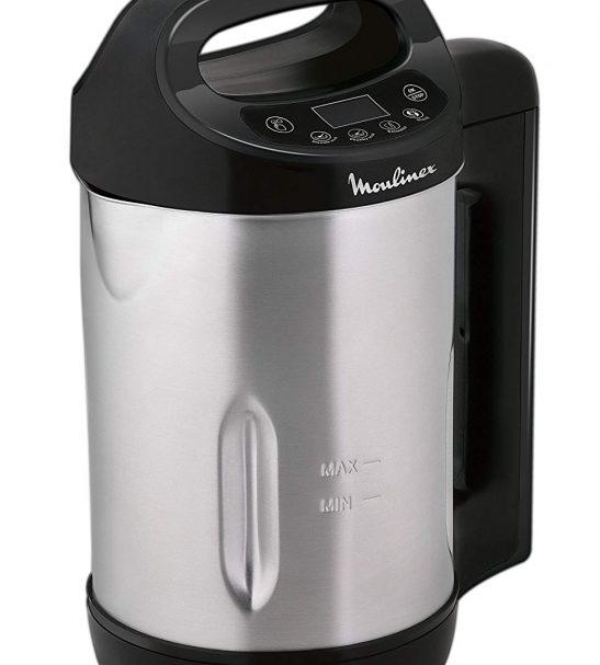Blender chauffant moulinex 1,2L - LM540810 My Daily Soup Maker - Inox/Noir