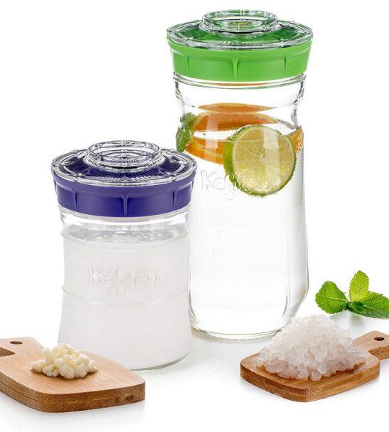 Kefirko – réaliser un kéfir de lait ou d'eau à la maison (1,4 l) violet