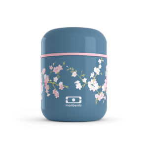 Petite boite bento isotherme isotherme - MB Capsule Flower Mood Denim
