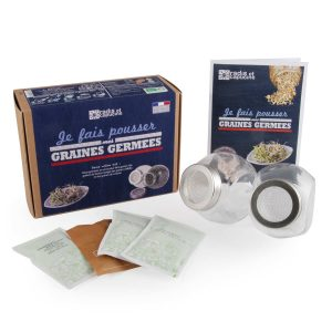 Kit 2 germoirs verre graines à germer bio